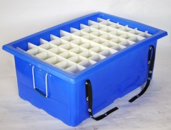 """SHIPPING CONTAINER Removable multi-compartment ⅛"""" HDPE"""