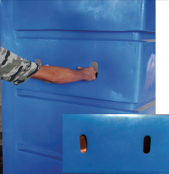 """6"""" x 2"""" hand holes are standard on all BULK CARTS."""