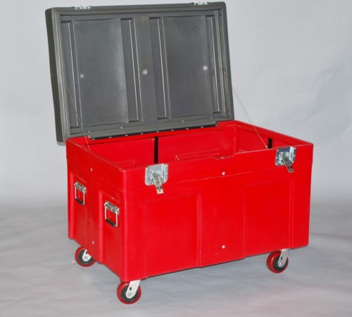 RC - 4534H5 PLASTIC ROAD CASE WITH CASTERS