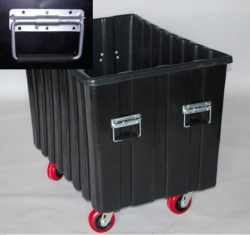 SURFACE CHEST handles are an option for all Shipping Containers, Carts and Bushel Trucks.