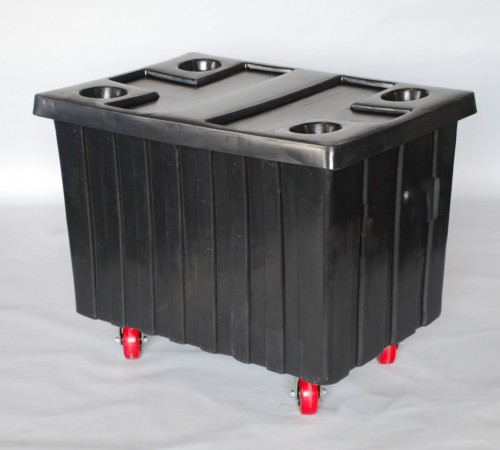 MTE-H SERIES BULK CART WITH CASTERS AND LID