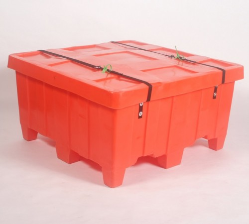 MTG-SERIES RIBBED WALL PLASTIC CONTAINER WITH SECURITY STRAP