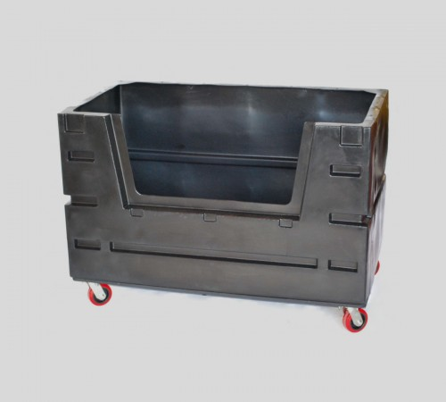 COF-3433H5 BULK CART WITH CASTERS