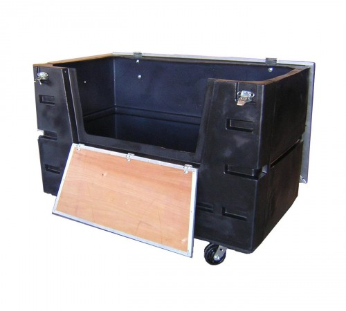 CUSTOMIZED COF-3433H5 BULK CART WITH CASTERS, DOOR AND LID