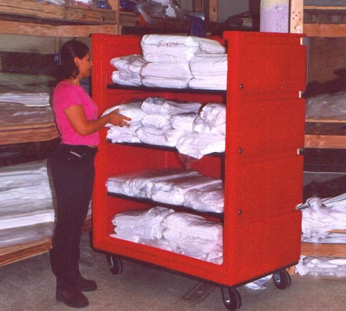 OFC-5829H6  BULK CART LAUNDRY CART ON CASTERS