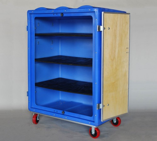 RTC-5829H6 BULK CART ON CASTERS AND SHELVES