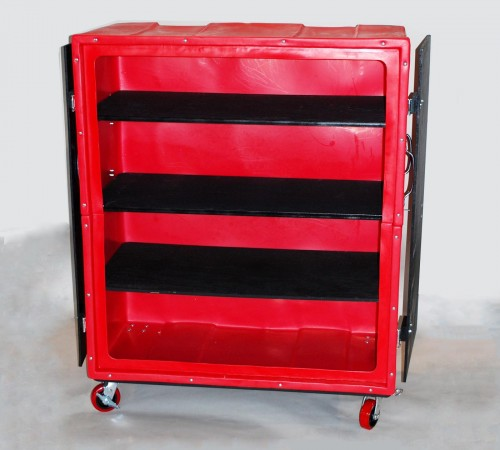 RTC-6829H6 BULK CART ON CASTERS WITH DOORS ND SHELVES