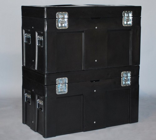 SC-4524-1 ROAD CASE WITH INTERNAL STEEL FRAME STACKED