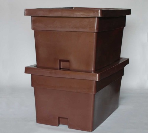 MTX-SERIES SMOOTH WALL CONTAINER WITH LID STACKED