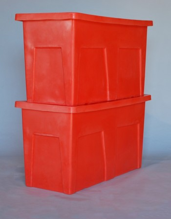 SW-5530 SERIES SMOOTH WALL  REUSABLE PLASTIC SHIPPING CONTAINER STACKED