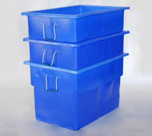 MTF-SERIES SMOOTH WALL PLASTIC CONTAINERS NESTED